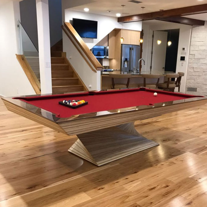 pool table with spiral base
